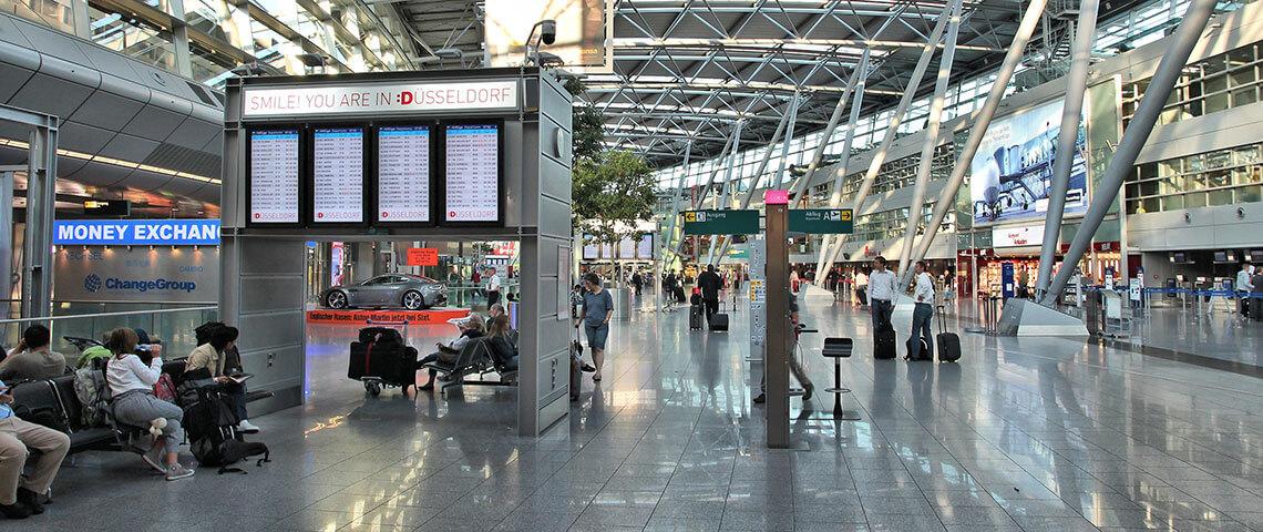 Reiserecht - Szene am Flughafen Düsseldorf